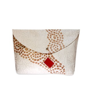 Frida Mosaic Ivory Red