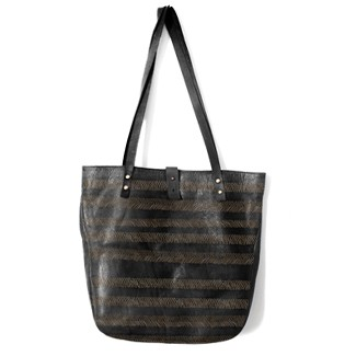 Small Tote Black Lines