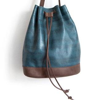 Drawstring Bag Denim Lines